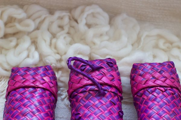 Pink and Purple Woven Case