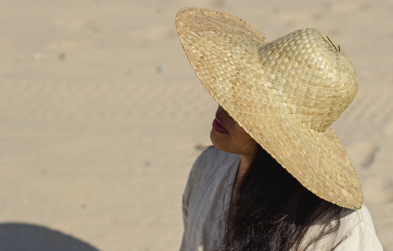 Handmde Sun Hat for the Beach in Summer